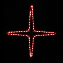 Kiscsillag 4 ágú 55cm piros LED