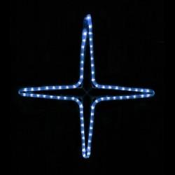 Kiscsillag 4 ágú 55cm kék LED