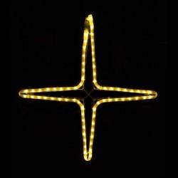 Kiscsillag 4 ágú 55cm sárga LED