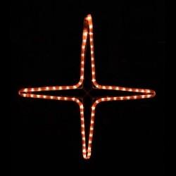 Kiscsillag 4 ágú 55cm amber LED
