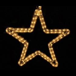 Ötágú csillag 40cm fehér