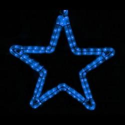 Ötágú csillag 40cm kék