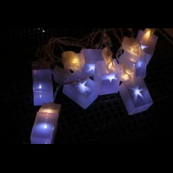 Holografikus lámpás dekor füzér