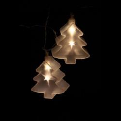 Holografikus fenyőfa dekor füzér