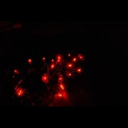 Beltéri LED vezérelhető fényfüzér 10m ezüst kábel, 128 piros LED - 24V