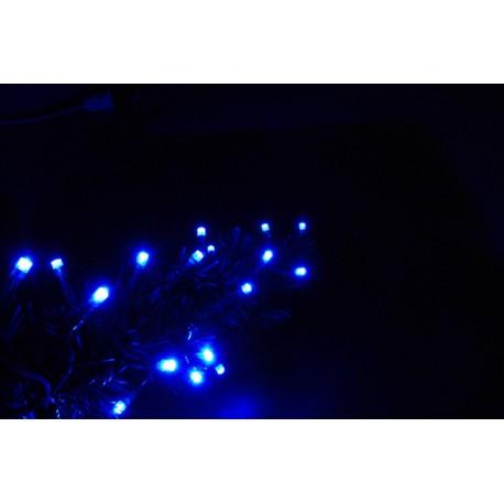 Beltéri LED vezérelhető fényfüzér 6m ezüst kábel, 80 kék LED - 24V