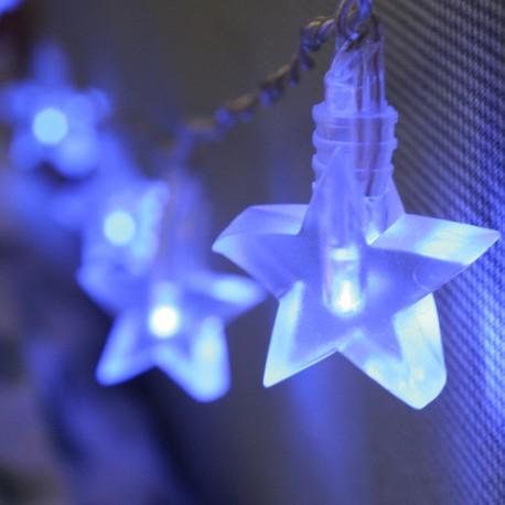 Elemes kék csillag fényfüzér