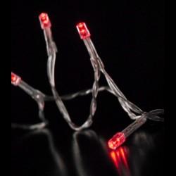 Piros 10 LED es elemes fényfüzér