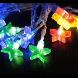 Elemes színes csillag fényfüzér