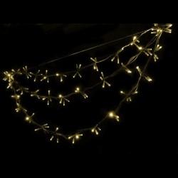 Kültéri LED Swing füzér 1,4m fehér kábel, 144 meleg fehér LED