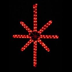 Esthajnal csillag 31x45cm piros
