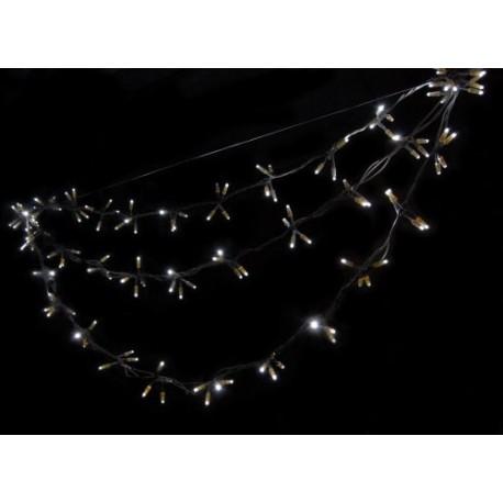 Kültéri LED Swing füzér 2,7m fehér kábel, 180 fehér LED