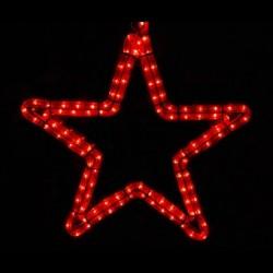 Ötágú csillag 40cm piros