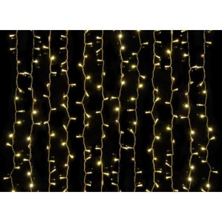 Beltéri LED fényfüggöny 2m x 1,5m fehér kábel, 300 melegfehér LED