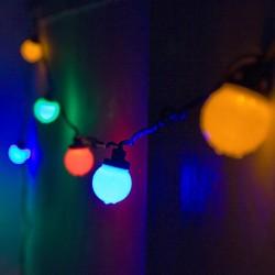 """LED Party fényfüzér (égősor) szett 10m zöld kábel 15 színes """"Golflabda"""""""