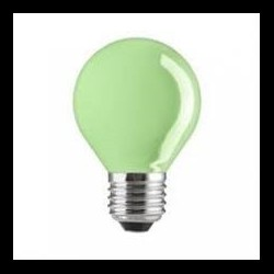 LED fényforrás E27 6 LED zöld