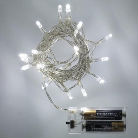 20 fehér LED elemes fényfüzér