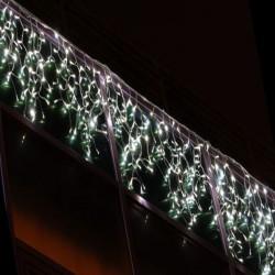 Beltéri LED jégcsapfüzér 3m x 1m fehér kábel, 228 fehér LED