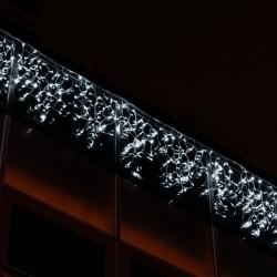 Kültéri LED fényjégcsap 3m x 0,5m fehér kábel, 114 fehér LED