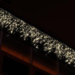 Kültéri LED fényjégcsap 3m x 0,5m fehér kábel, 114 meleg fehér LED