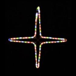 Kiscsillag 4 ágú 55cm színes LED