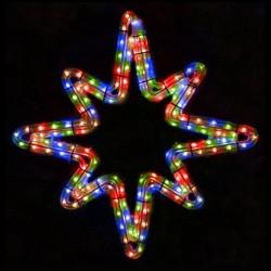 Sarkcsillag 8 ágú kicsi 47cm színes LED