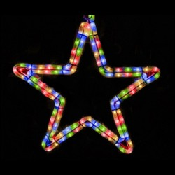 Ötágú csillag 40cm színes