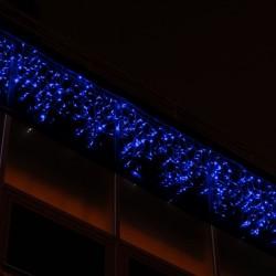 Kültéri LED fényjégcsap 3m x 0,5m fehér kábel, 50 kék LED