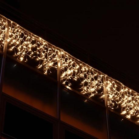 Kültéri LED fényjégcsap 3m x 0,5m fehér kábel, 50 meleg fehér LED