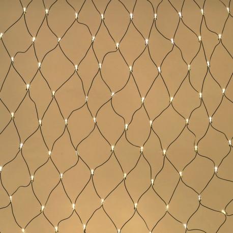 Beltéri Fényháló 2,5x1,2m zöld kábel, 406 fehér izzó