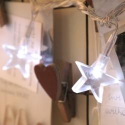 Elemes fehér csillag fényfüzér