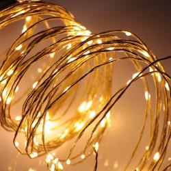Arany angyalhaj fényfüzér 3 méter