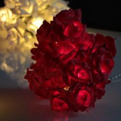 Vörös rózsa fényfüzér