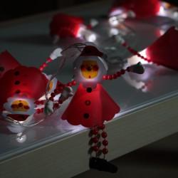 LED piros mikulás dekor fényfüzér