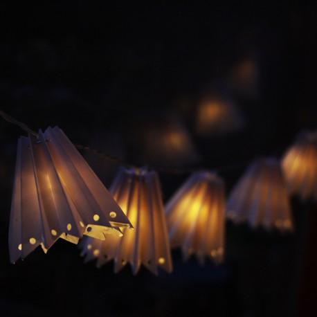 Papír lámpaernyő, elemes fényfüzér