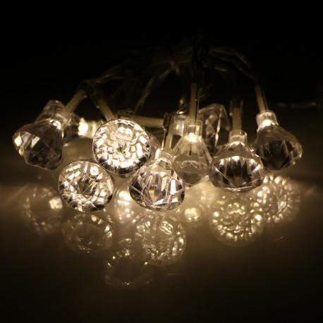 Elemes acryl gyémánt fényfüzér