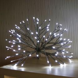 Ezüst fagyöngy dekorációs fény 45 cm