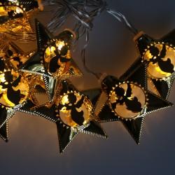 Elemes arany csillag fényfüzér