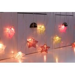 ISABELLA elemes meleg fehér LED csillag fényfüggöny