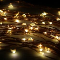 Elemes kültéri microLED fényfüzér 10m 100 meleg fehér LED