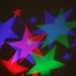 Kültéri LED projektor színes csillagok