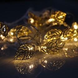 LEAF arany levél elemes fényfüzér