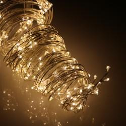 Ezüst FLASH LED angyalhaj 1,5m (16 szálas)
