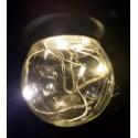Melegfehér microLED dekorációs fényforrás Party fényhez (E27)