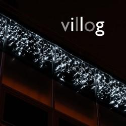 Kültéri villanó LED-es fényjégcsap 3m x 0,5m fehér kábel, 114 fehér LED