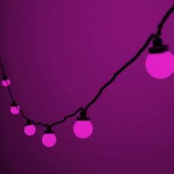 """LED Party fényfüzér szett 5m zöld kábel 10 pink """"Golflabda"""""""