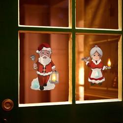 Világító karácsonyi ablakdekoráció - Télanyó