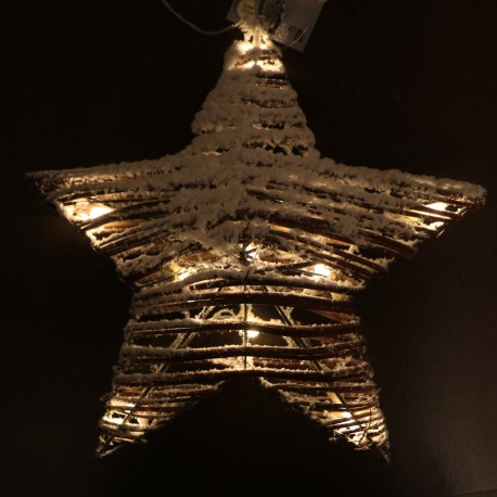 Rattan havas csillag dekoráció