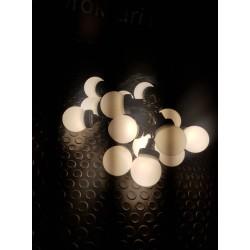 """LED Party fényfüzér szett 10m zöld kábel 15 meleg fehér """"Golflabda"""""""