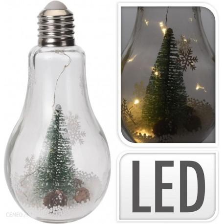Elemes meleg fehér LED gömb fenyő dekorral